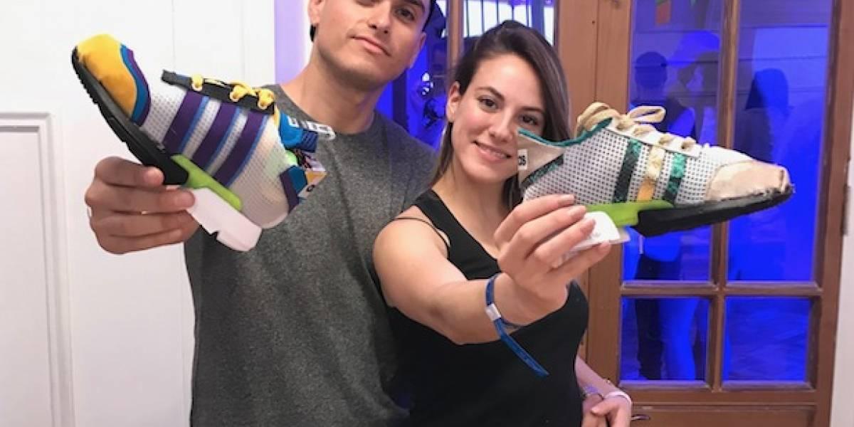 """Daniela de """"Pacto de sangre"""" """"revivió"""" para diseñar zapatillas junto a su pololo"""