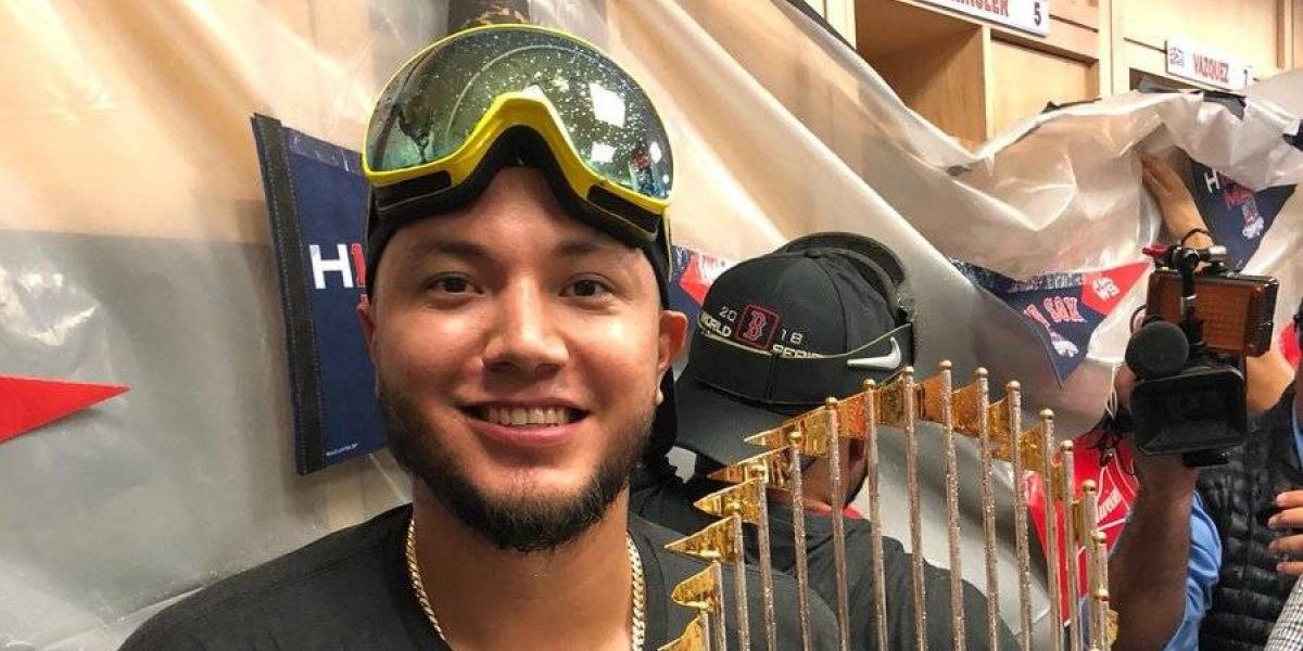 VIDEO: Héctor Velázquez, festejó su campeonato con los Red Sox de Boston