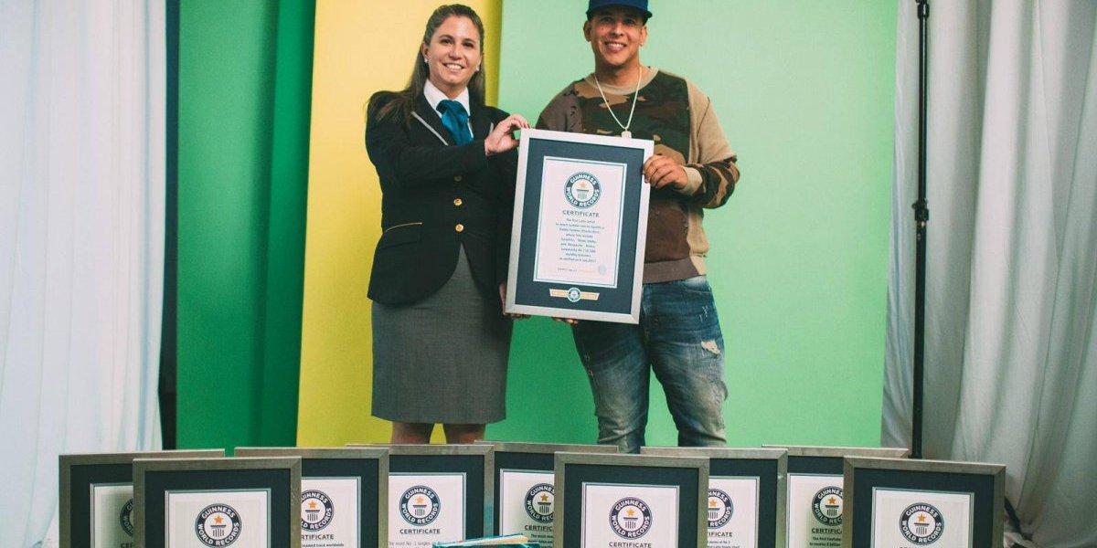 Guinness reconoce a Daddy Yankee como primer latino en dominar Spotify