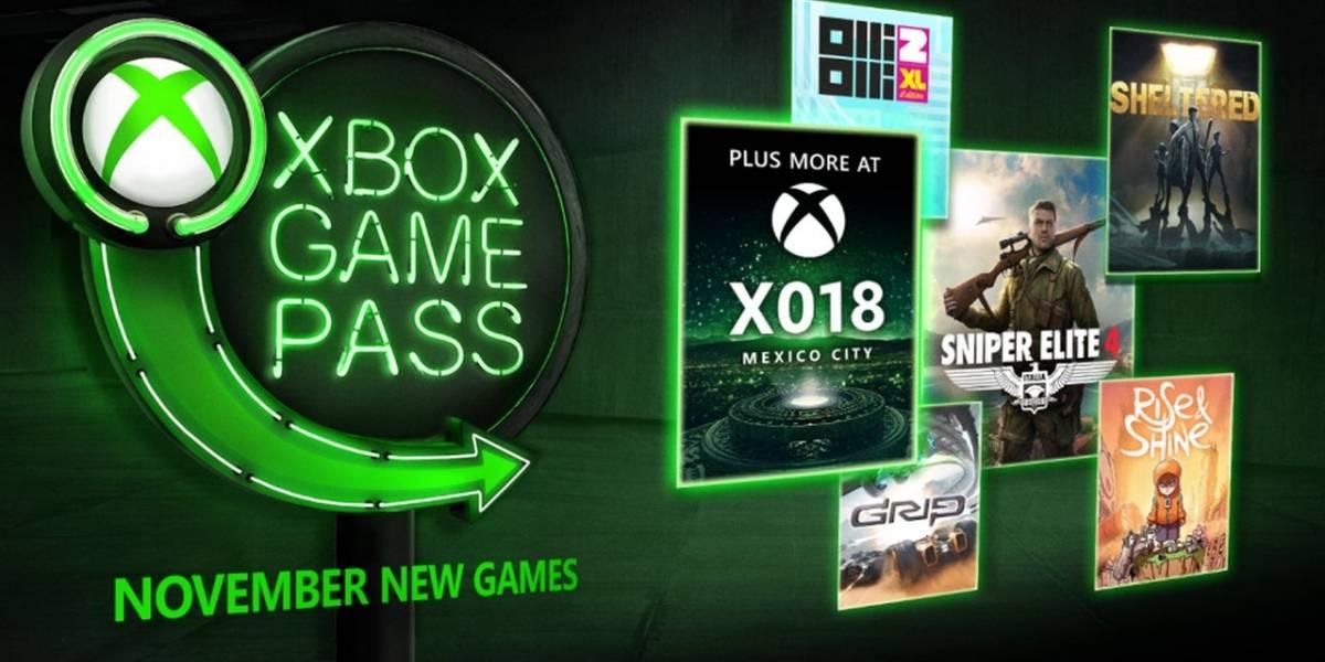 Xbox Game Pass agregará en noviembre Sniper Elite 4, Olli Olli 2 y más