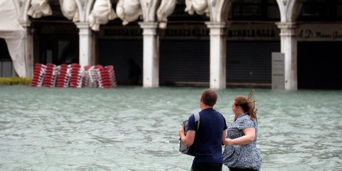 As imagens impressionantes de Veneza inundada após tempestades no norte da Itália