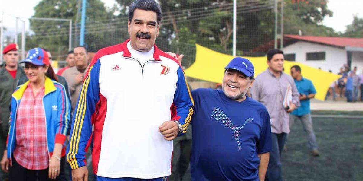 Maradona agradece felicitación de Nicolás Maduro