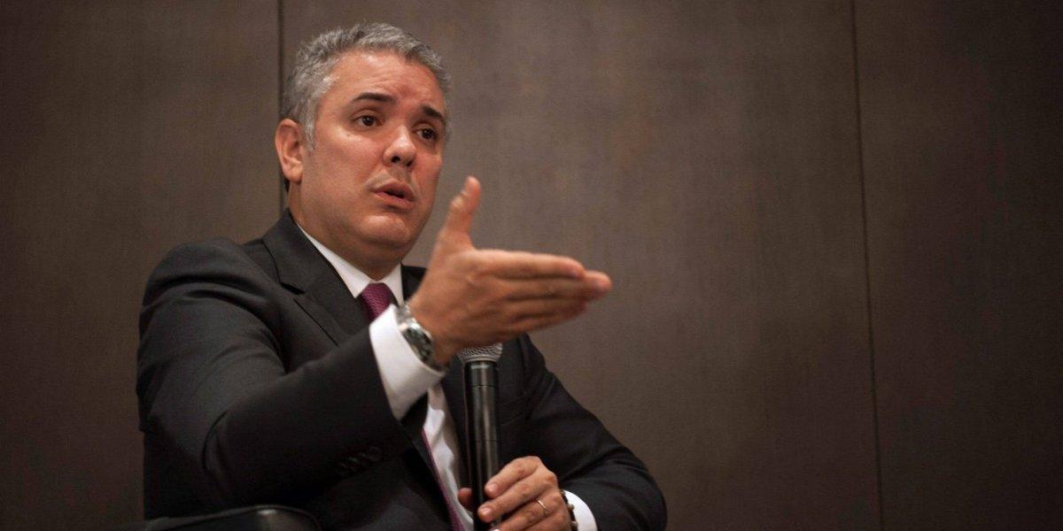 """Duque se declara partidario de nombrar fiscal """"ad hoc"""" para el caso Odebrecht"""