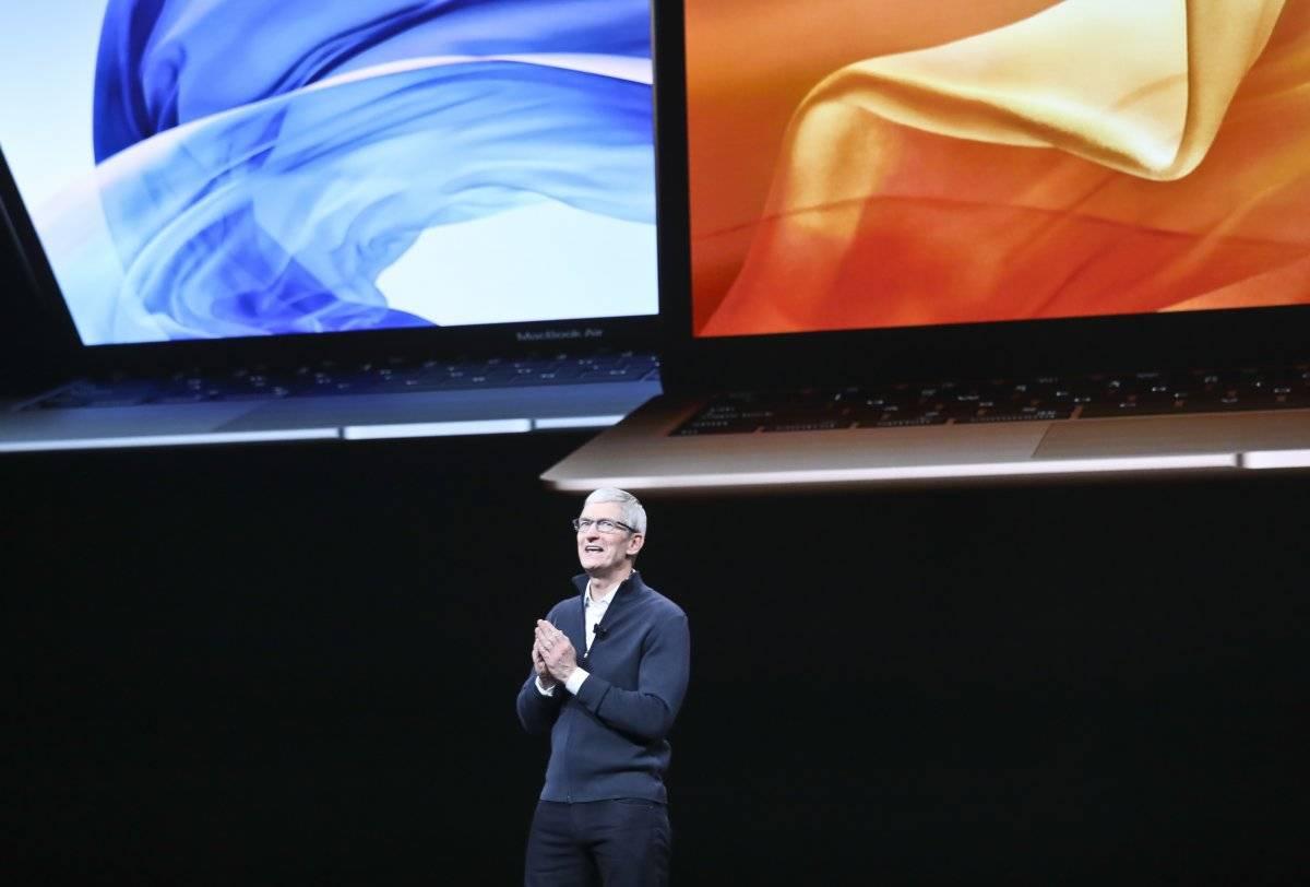 Tim Cook, ceo de Apple en la presentación