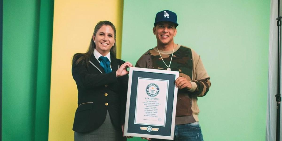 Daddy Yankee recibe 10 récords Guinness por 'Despacito' y su éxito en Spotify