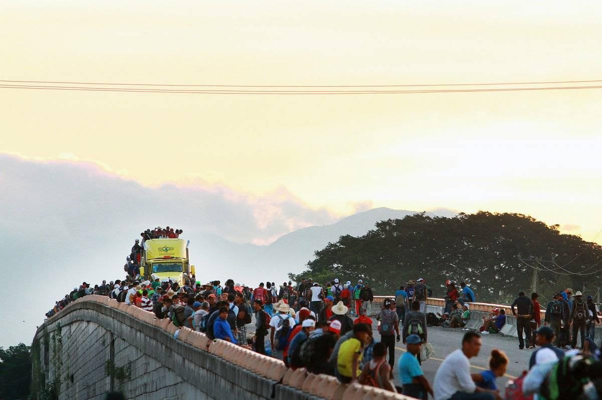 Primera caravana de migrantes se dirige a Juchitán Foto: Notimex