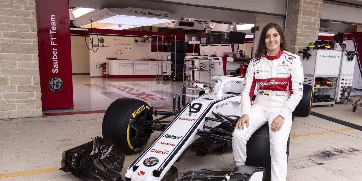 Tatiana Calderón hace historia en la Fórmula 1