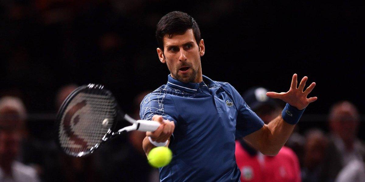 Djokovic inicia con pie derecho el Masters de París