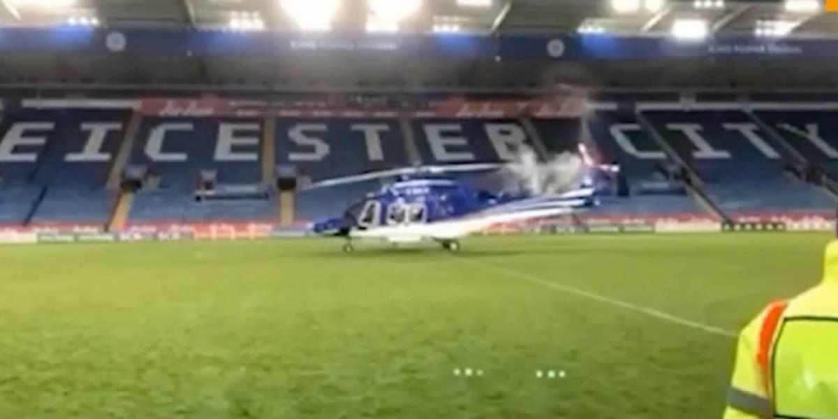 Nuevo video del momento en que cae el helicóptero en Leicester