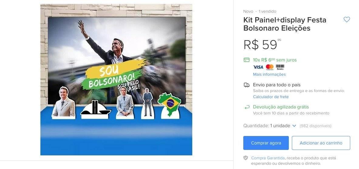 Kit festa Jair Bolsonaro