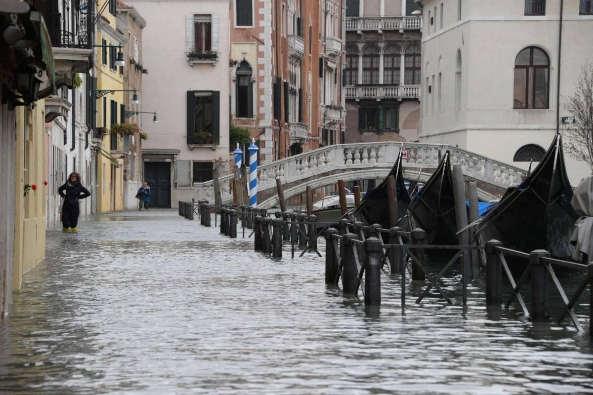 Inundaciones cubren un 70% de Venecia Foto: EFE
