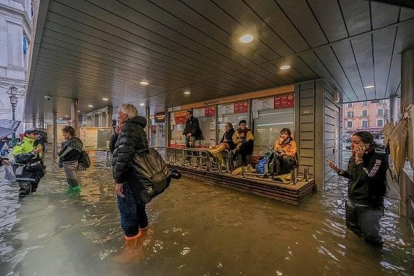 Inundaciones cubren un 70% de Venecia Foto: Getty Images
