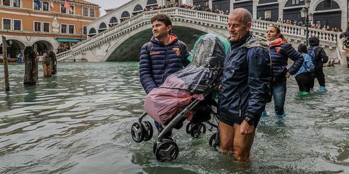 FOTOS: Inundaciones atípicas cubren un 70% de Venecia
