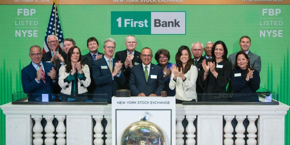 First BanCorp celebró sus 25 años en la Bolsa de Valores de Nueva York