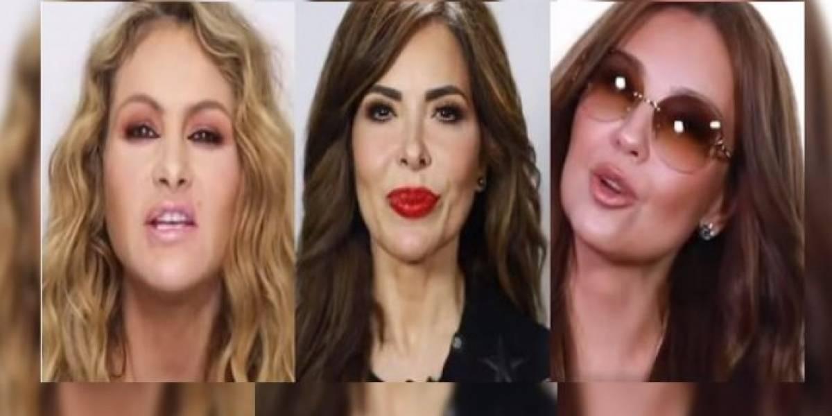 ¡Como nunca! Thalía, Paulina Rubio y Gloria Trevi juntas en concierto