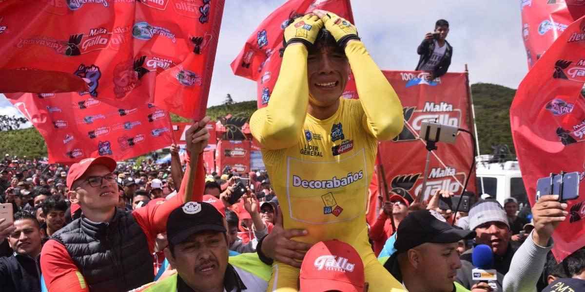 Entre lágrimas, Alfredo Ajpacajá toca el cielo en #LaVuelta58
