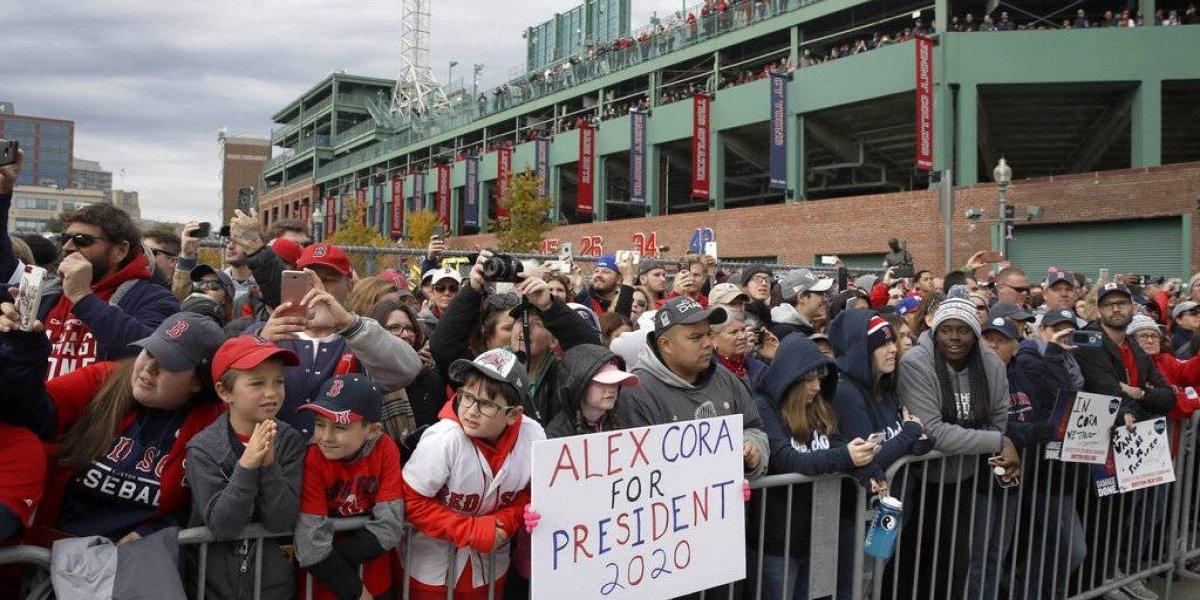 Boston festeja otro campeonato de los Medias Rojas
