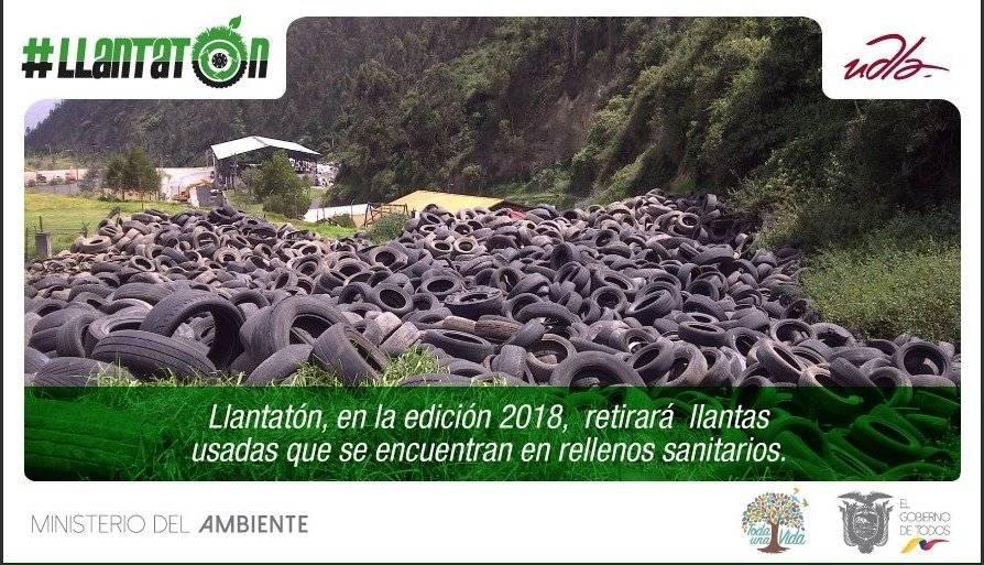 """Ministerio del Ambiente lanza campaña """"Llantatón"""" para convertir neumáticos viejos en juegos infantiles"""