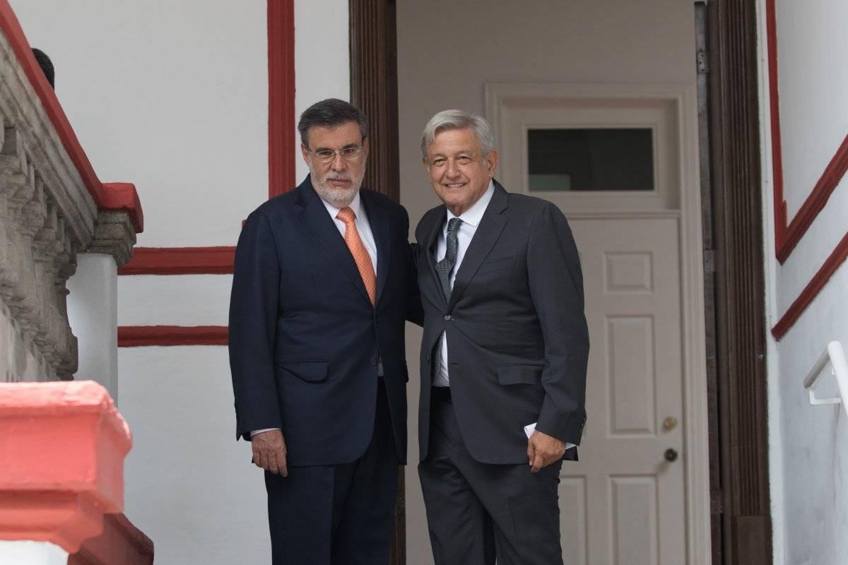 Andrés Manuel López Obrador, presidente electo de México, acompañado de Julio Scherer Ibarra, designado como Consejero Jurídico de la Presidencia Foto: Cuartoscuro