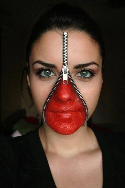 ZIPPER FACE Pinterest