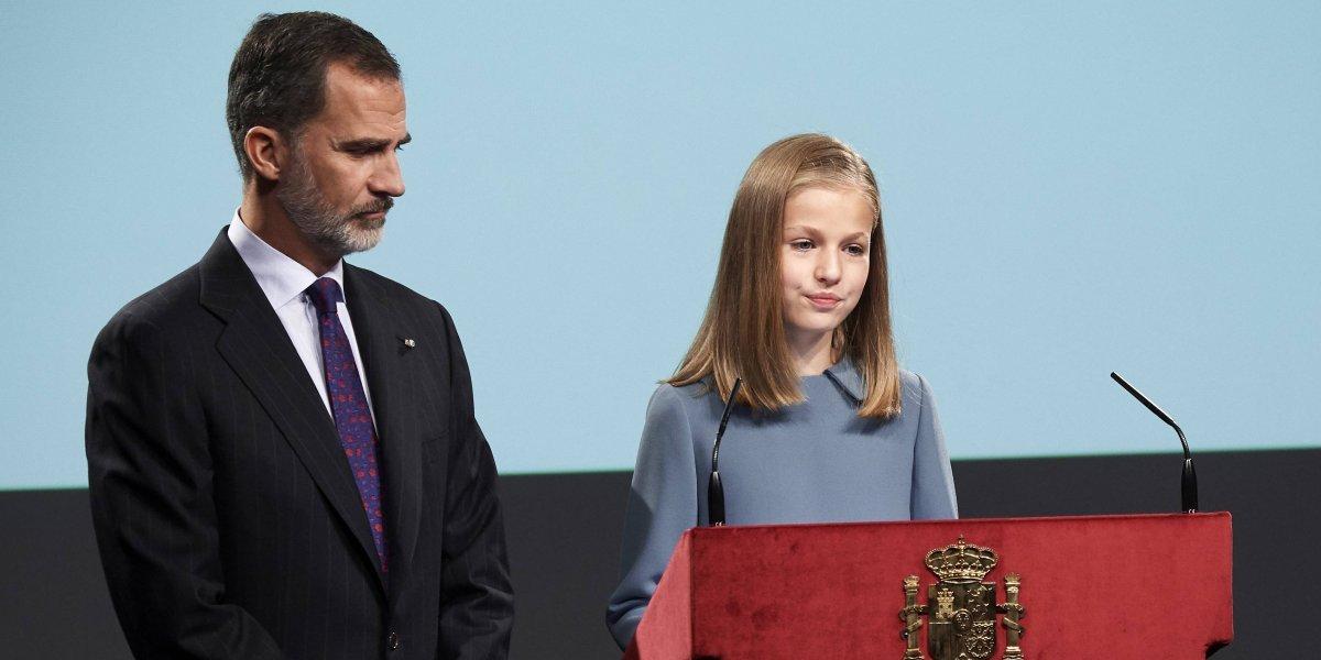 Infanta Leonor de España realiza su primera aparición pública