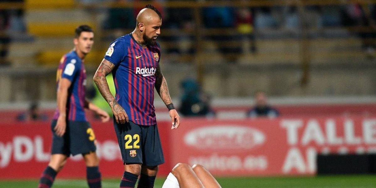 Vidal jugó su primer partido completo en discreto triunfo de un Barça alternativo en la Copa del Rey
