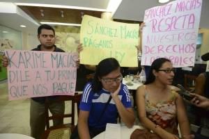 Protestas contra Karime Macías