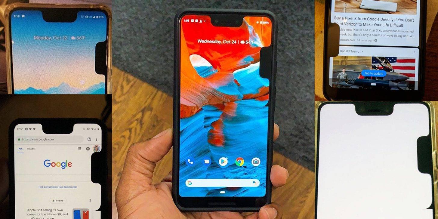 Aterrador: Un bug presente en el Pixel 3 XL agrega un segundo notch a la pantalla