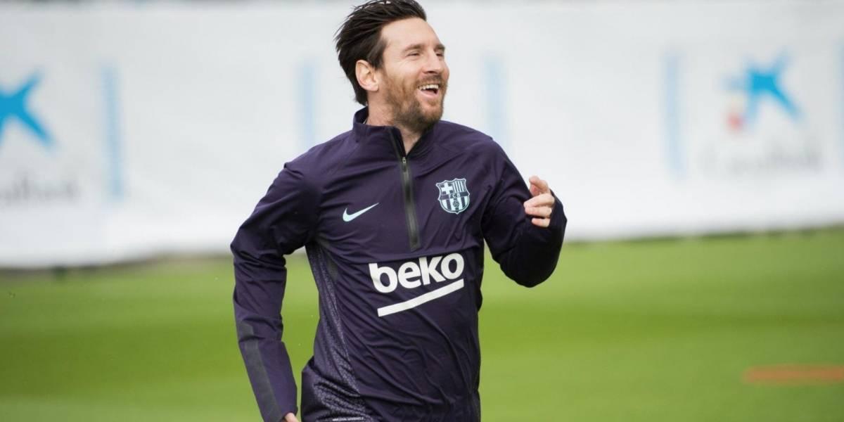 Messi regresa a entrenamientos del Barça tras lesión