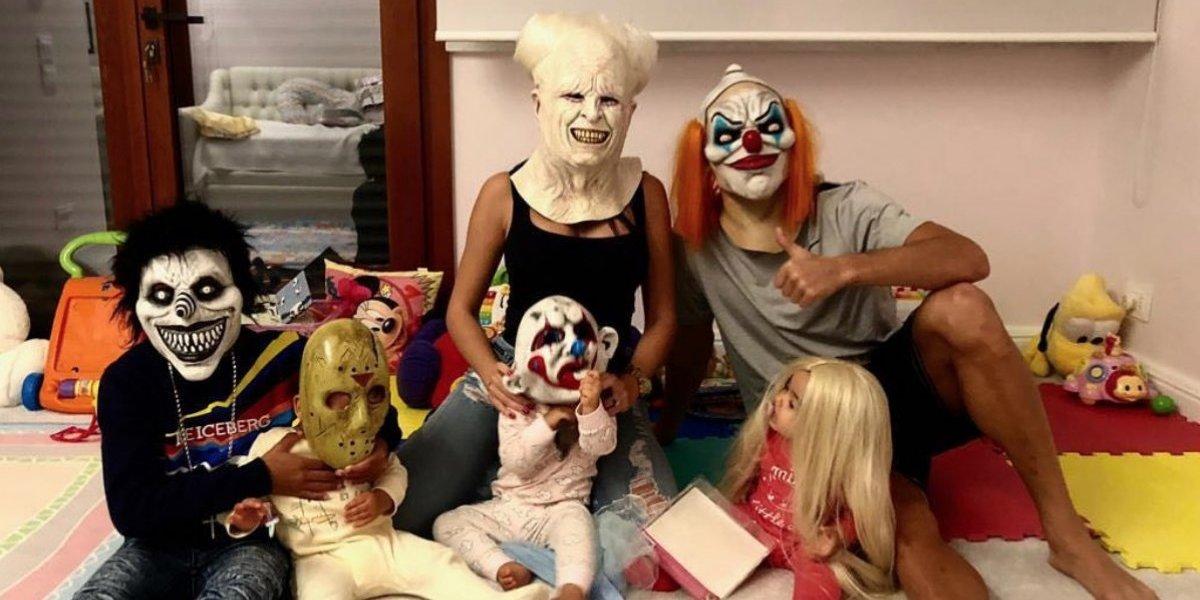 Cristiano Ronaldo festeja Halloween con su familia