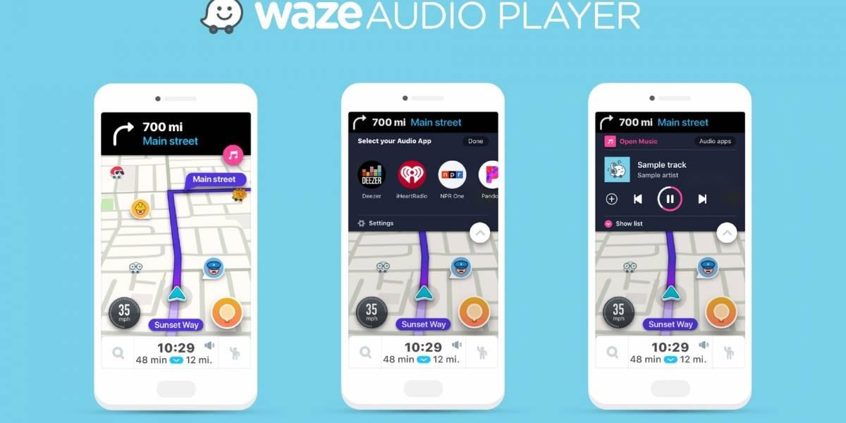 Waze añade un reproductor de música compatible con ocho plataformas