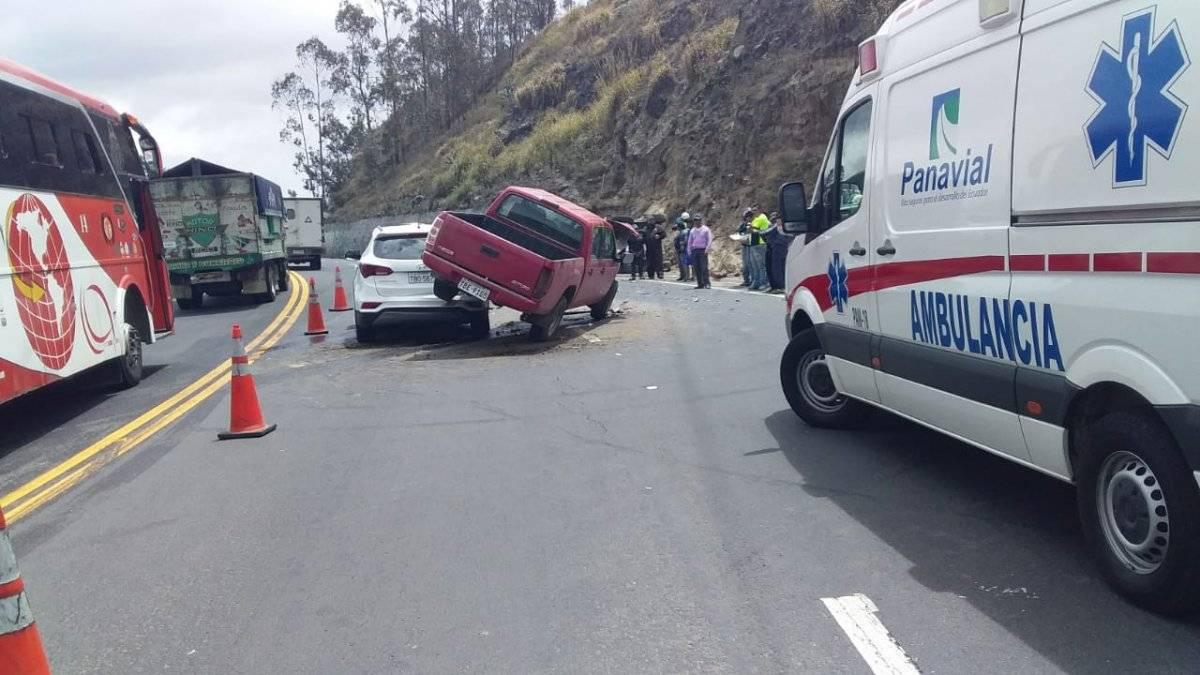 Varias personas heridas en dos accidentes de tránsito en la Panamericana Norte Cortesía POLICÍA NACIONAL