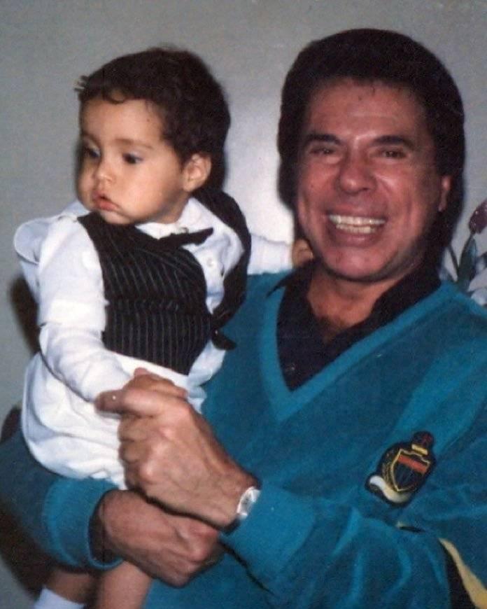 Silvio Santos com Tiago Abravanel