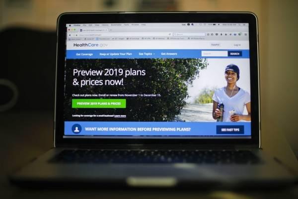Esta fotografía muestra el portal HealthCare.gov para contratar seguros de gastos médicos, en Washington, el miércoles 31 de octubre de 2018.