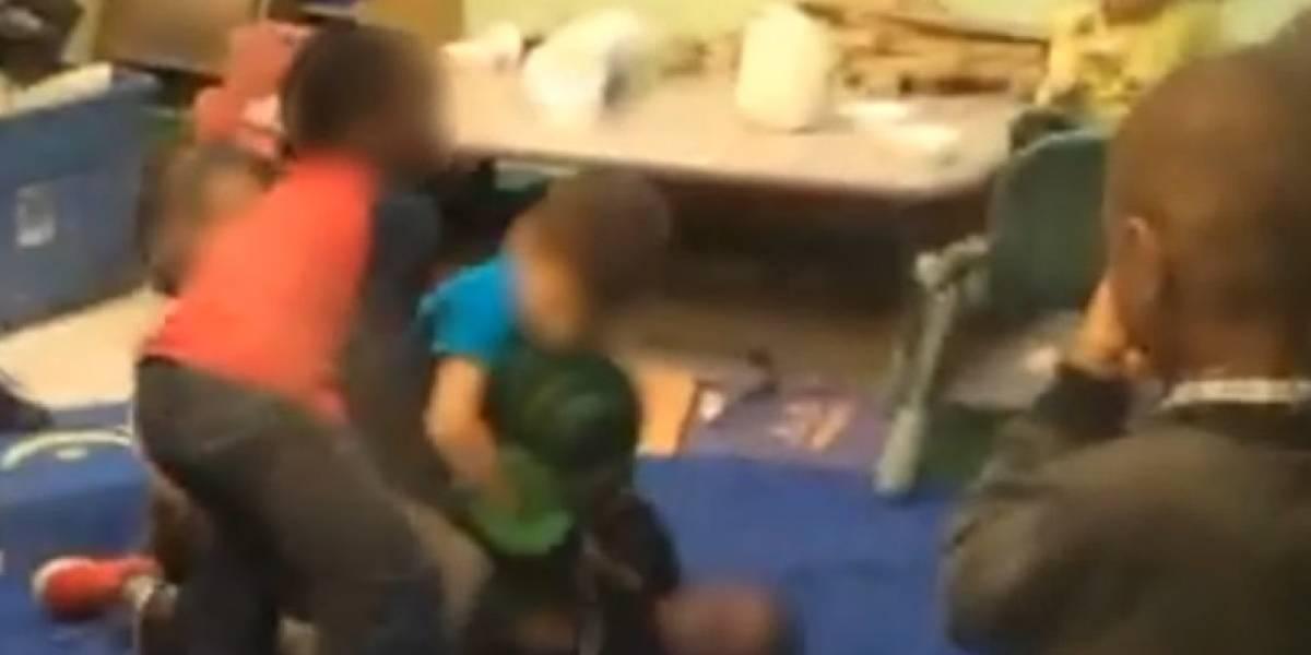 Video: maestras de jardín infantil organizan 'club de la pelea' con sus alumnos
