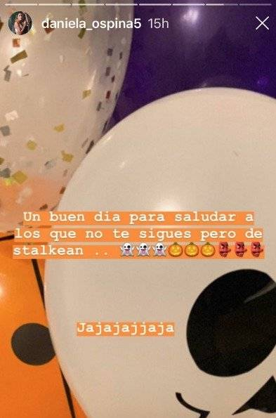 Captura de pantalla Instagram Daniela Ospina