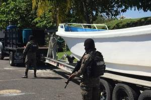 Cocaína localizada en embarcación.