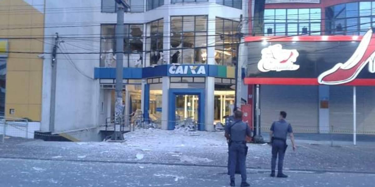 Bandidos roubam três bancos e aterrorizam moradores de Vargem Grande Paulista