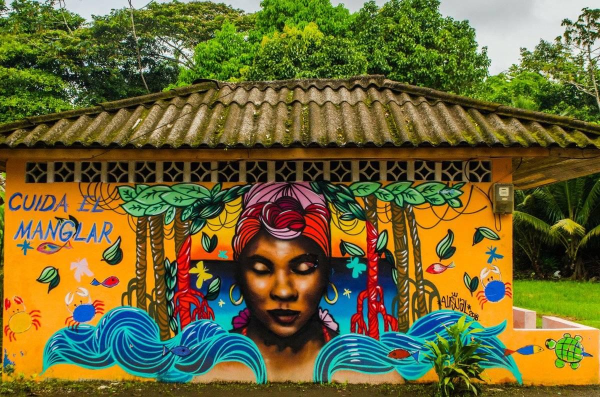 La mayoría de los murales estuvieron dedicados a la conservación ambiental. Foto: Papagayo Trip