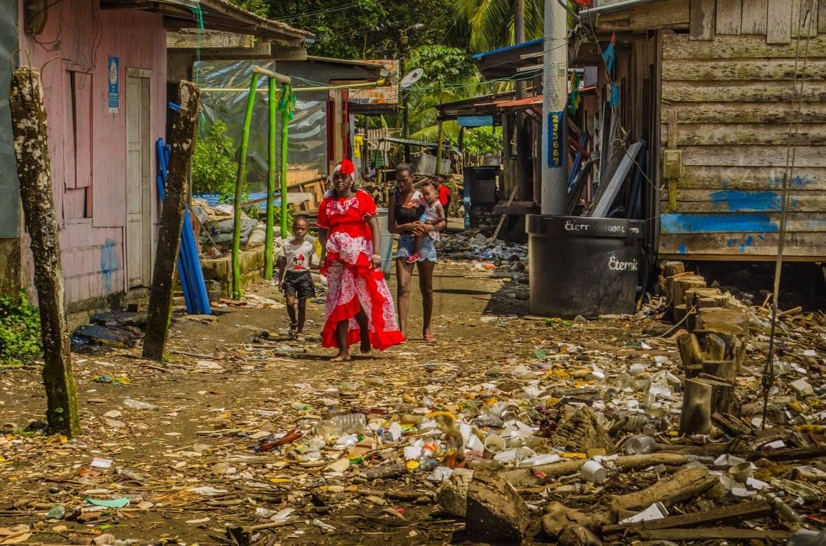 La principal problemática del corregimiento son los residuos sólidos, pues no existe un sistema de recolección. Foto: Papagayo Trip