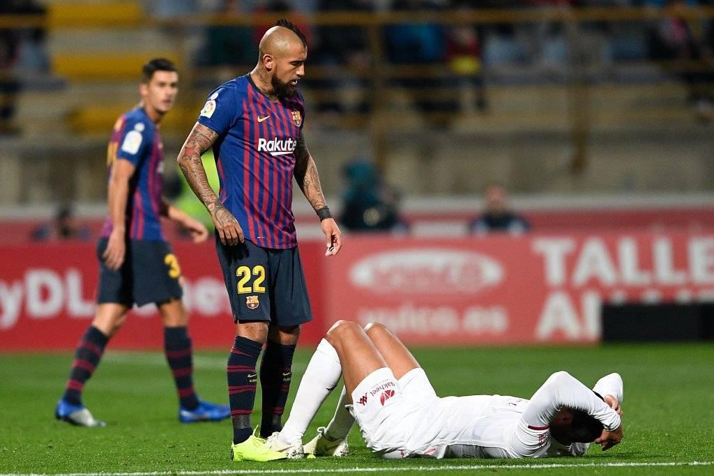 Arturo Vidal jugó su primer partido completo en Barcelona en el triunfo 1-0 sobre el Cultural Leonesa / Foto: Getty Images