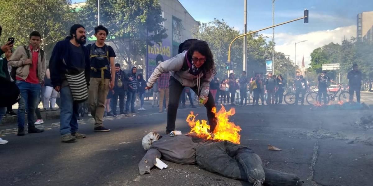 FOTOS: grave situación de orden público en el norte de Bogotá