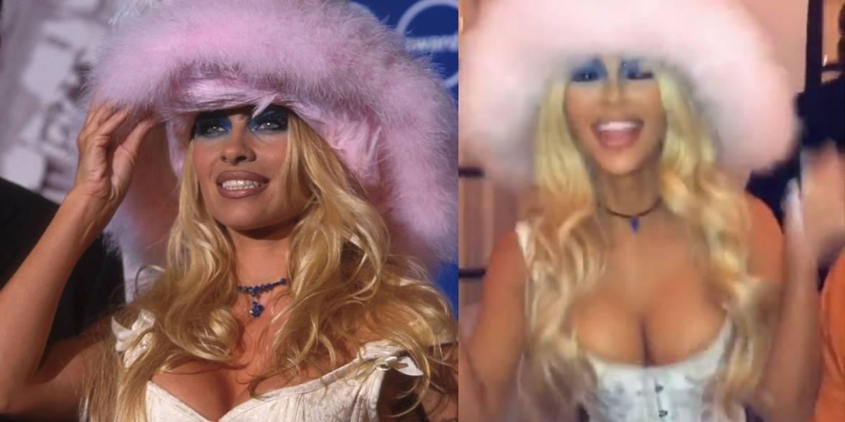 Kim Kardashain se transformó en Pamela Anderson para Halloween