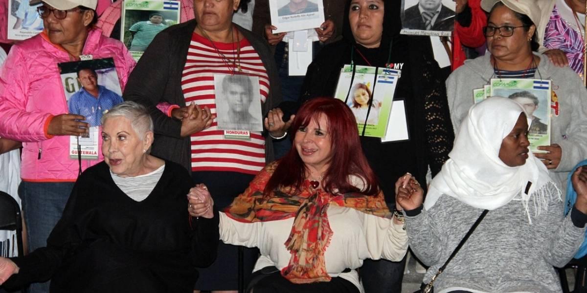 Caravana de madres de migrantes desparecidos llega a la CDMX
