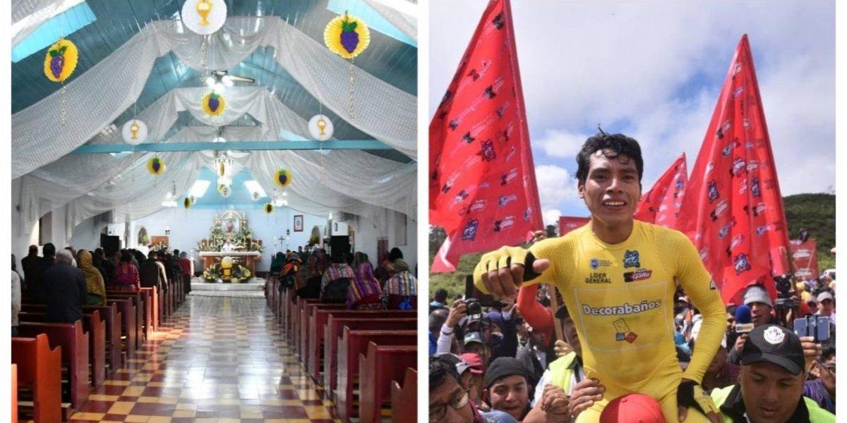 En la tierra de Ajpacajá hacen misa y esto pidió el sacerdote para el ciclista