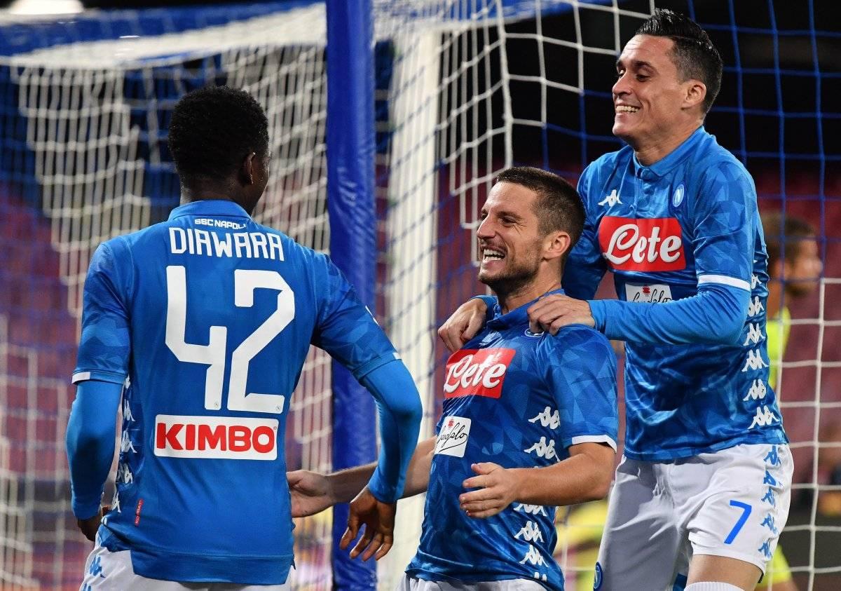 El Nápoles festejó ante el Empoli
