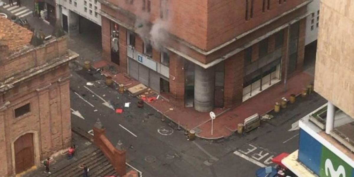 Explosión en edificio frente a la Fiscalía en Cali
