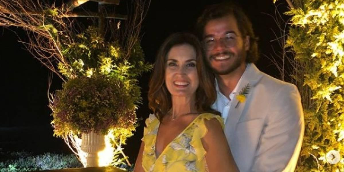 Fátima Bernardes comemora um ano de namoro e presta pequena homenagem