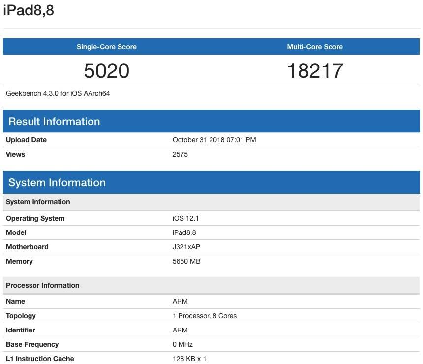 Filtran benchmark de la MacBook Air 2018. Es más lenta que la iPad Pro