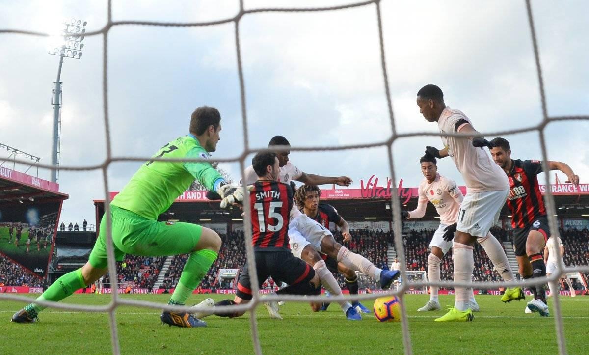 Cone este gol el United sentenció el juego